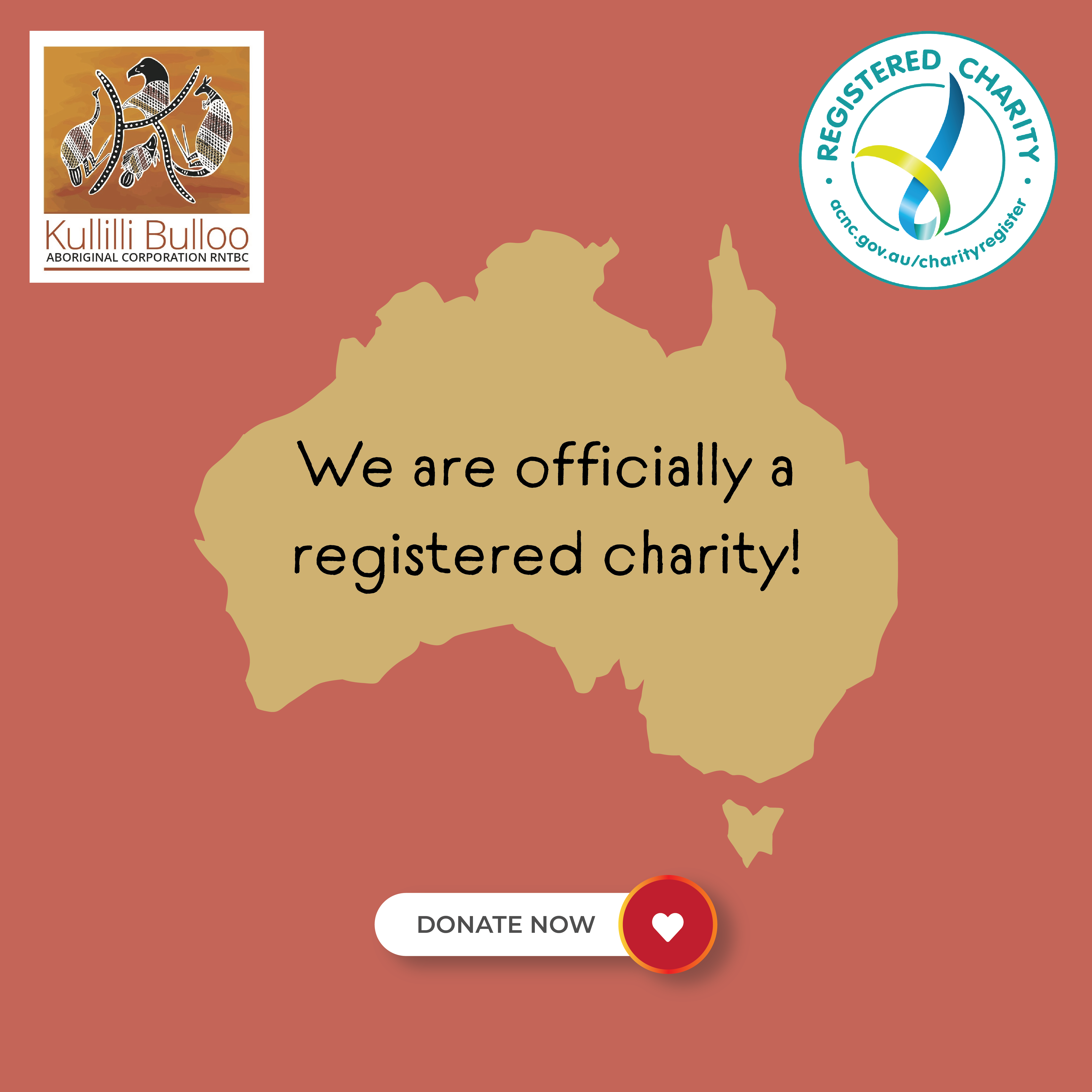We are now a registered charity!